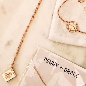 Penny + Grace Passport Necklace/Compass Bracelet